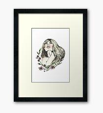 Floral Ink Framed Print