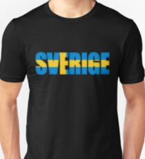 Sweden Sverige Flag  T-Shirt