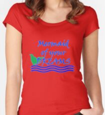 Mermaid Of Your Dreams (Blue) Women's Fitted Scoop T-Shirt