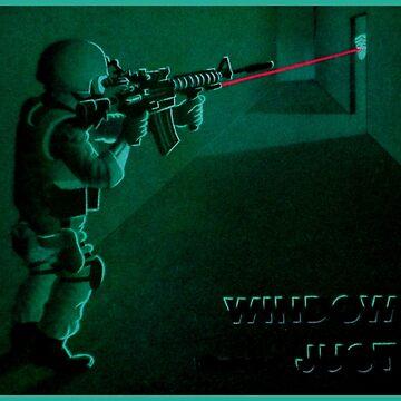 Window of Justice, Bin Laden by AirbrushedArt