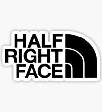 Half Right Face Sticker