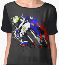 RIDE WITH YOUR COLOR Women's Chiffon Top