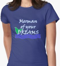 Merman Of Your Dreams (White) Womens Fitted T-Shirt