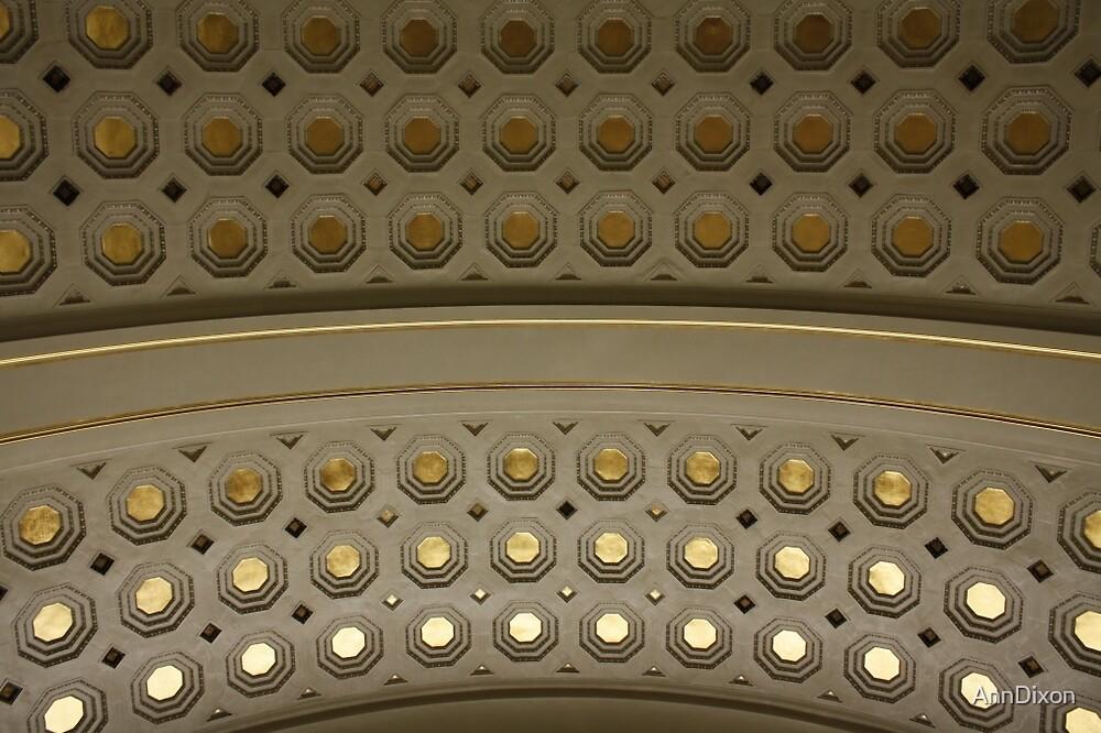 Union Station Ceiling in Washington DC by AnnDixon