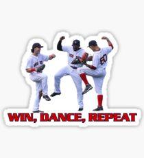 Win dance repeat Red Sox  Sticker