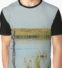 Fisherman Crossing Shallow Water | Fire Island, New York Graphic T-Shirt