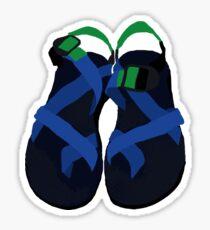 Pegatina Chacos gruesos azules y verdes