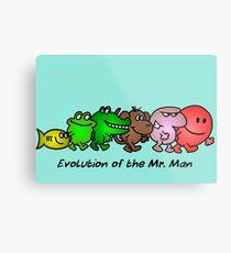 EVOLUTION OF THE MR. MAN Metal Print