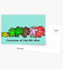 EVOLUTION OF THE MR. MAN Postcards