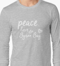 peace, love & Byron Bay Long Sleeve T-Shirt