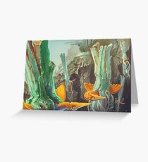 Valley of Flying Trees  Greeting Card