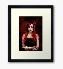 BLOOD Framed Print