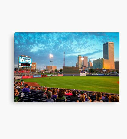 Oneok Stadium, Tulsa Drillers, Tulsa Skyline Photo, Tulsa Art, Best Tulsa Photos Canvas Print