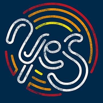 Yes - Retro Typographic Art by sebastianst