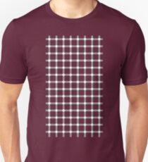 Optical illusion black grid with white dots Unisex T-Shirt