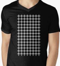 Optical illusion black grid with white dots Men's V-Neck T-Shirt