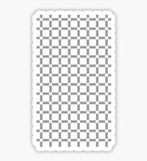 Optical illusion black grid with white dots Sticker