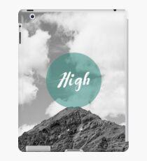 'High' Minimalism in Mountain Background iPad Case/Skin