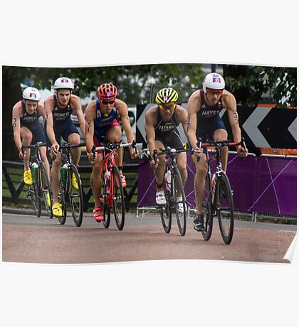 London 2012 Triathlon, Hyde Park - Brownlee Boys Day Out!!! Poster