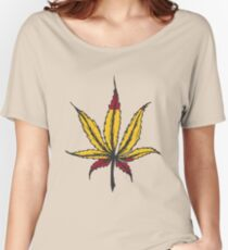 Cannabis leaf  Women's Relaxed Fit T-Shirt