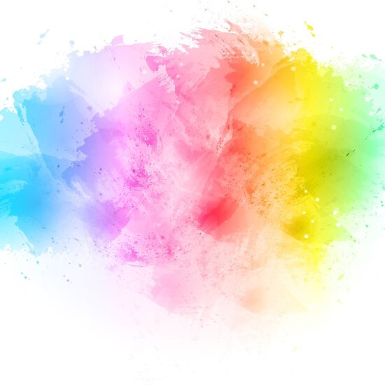 """Rainbow abstract artistic watercolor splash background ..."