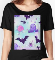 Kawaii funny spooky pattern Women's Relaxed Fit T-Shirt
