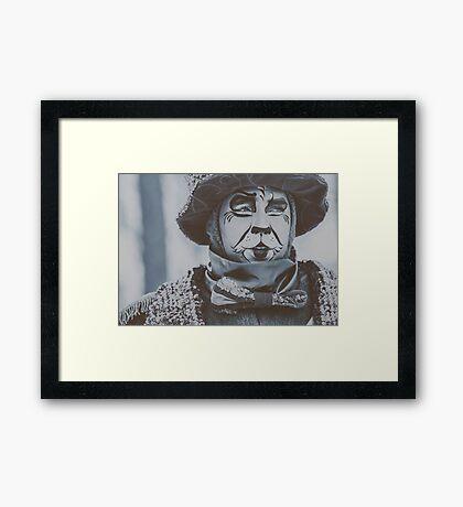 Festival Clown Framed Print