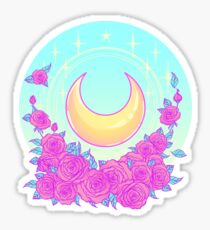 Moon and Roses Sticker