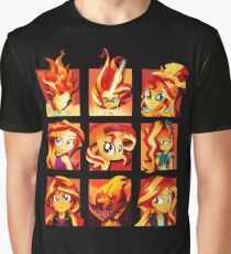 Forms of Sunset Shimmer Graphic T-Shirt