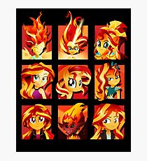 Forms of Sunset Shimmer Photographic Print