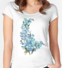 Forget-me-nots Women's Fitted Scoop T-Shirt