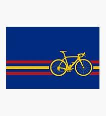 Bike Stripes Spanish National Road Race v2 Photographic Print