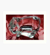 Eeyore in glass.......... Art Print