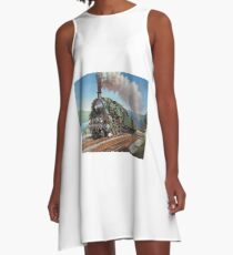 Vintage loco by the lake. A-Line Dress