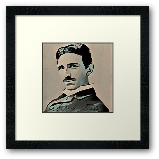 Nikola Tesla  by beabuks