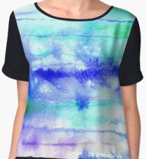 Watercolor texture, background, tie dyed. Chiffon Top