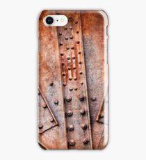 Rivets and screw on rusty machine iPhone Case/Skin