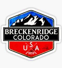 SKIING BRECKENRIDGE COLORADO MOUNTAINS SKI SNOWBOARD HIKING CLIMBING Sticker