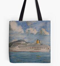 The Cruise Ship Aurora Tote Bag