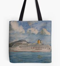 The Cruise Ship Aurora Tote Bag