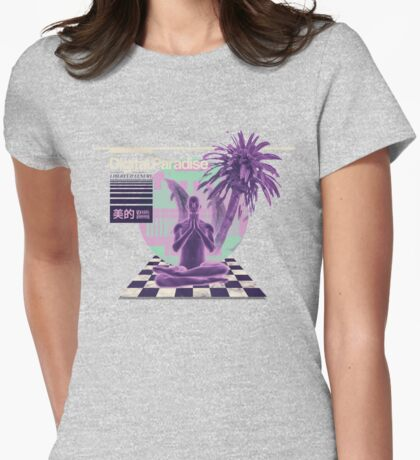 Digital Paradise Womens Fitted T-Shirt