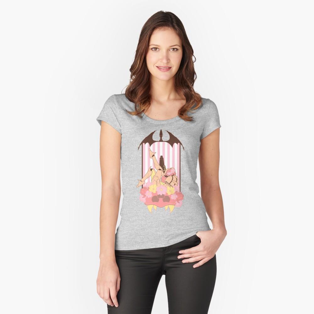 Pin-up Prime Camiseta entallada de cuello ancho