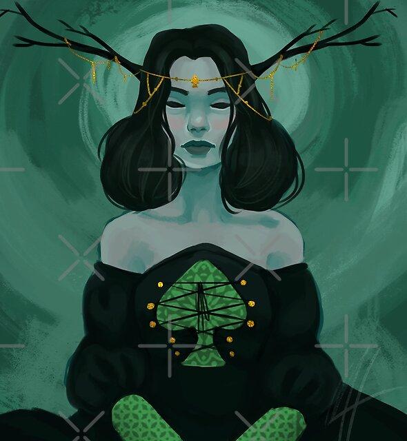 Queen of Spades by deepfriedpaint