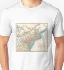 Vintage Map of New England (1821)  Unisex T-Shirt