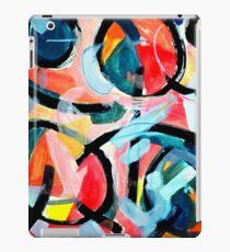 Black Swirls Color Dances iPad Case/Skin