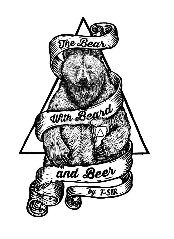 «The Bear with Beard and Beer» de OscarPostigo