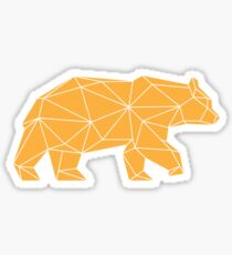 Yellow Geometric Bear Sticker