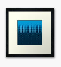 TriFade | Blue Edition Framed Print