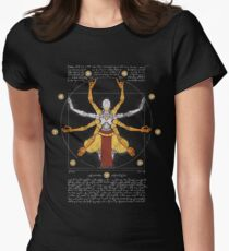 Vitruvian Omnic - color version Womens Fitted T-Shirt