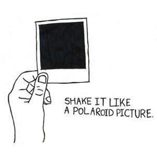 Schütteln Sie es wie ein Polaroidbild von Ravanna Lotus